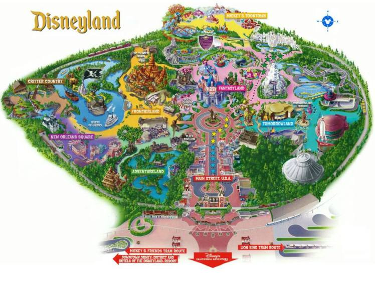 Carte de Disneyland - The Chris's Adventures