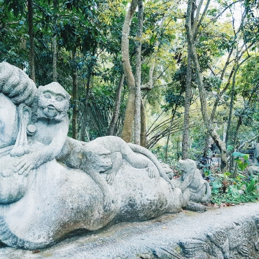 L'exotisme des statues - The Sacred Monkey Forest Sanctuary - The Chris's Adventures-