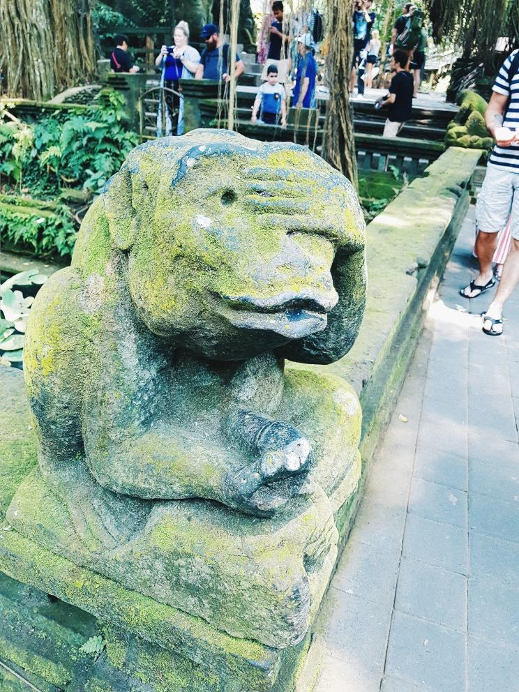 le singe qui se masturbe - The Sacred Monkey Forest Sanctuary - The Chris's Adventures