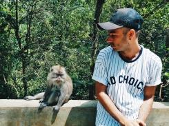 No Stress avec un macaque - Sacred Monkey Forest Sanctuary - The Chris's Adventures