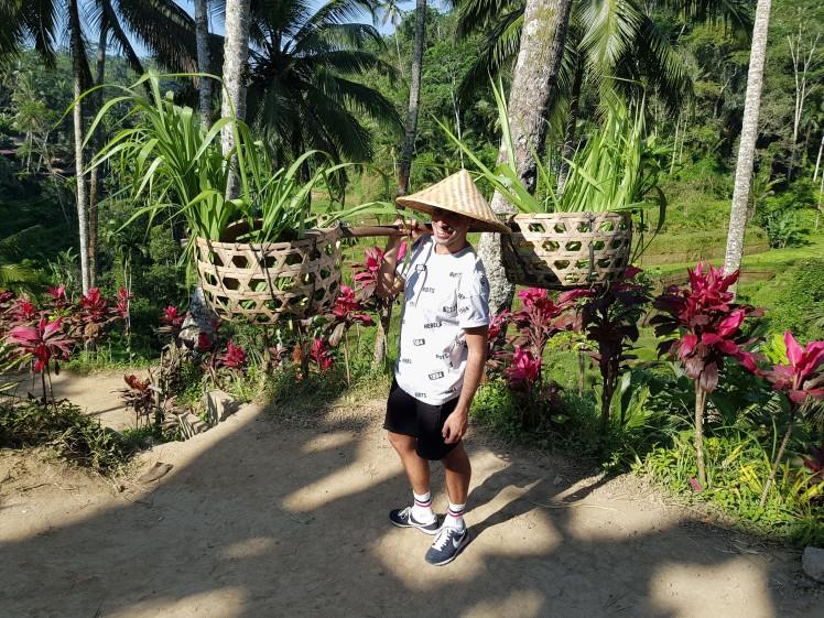 En mode riziculteur -Rizieres de Tegalalang - The Chris's Adventures