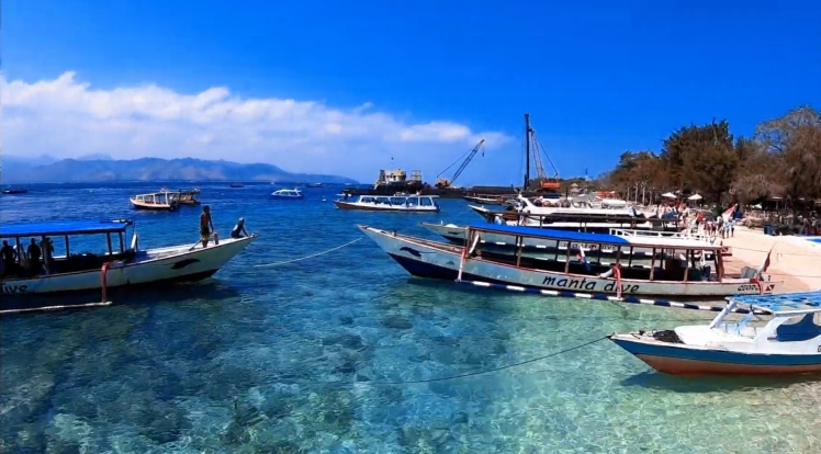 l'eau cristalline - Gili Trawangan - The Chris's Adventures
